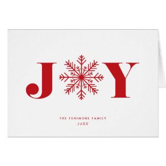 Festive Joy | Holiday Photo Collage Folded Card