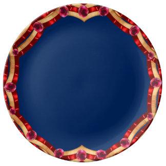 Festive July 4th Patriotic Dinnerware CricketDiane Porcelain Plate