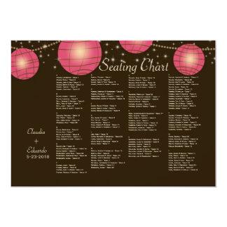 Festive Lanterns with Pastel Dark Brown & Pink 13 Cm X 18 Cm Invitation Card