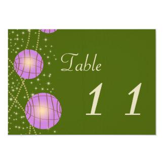 Festive Lanterns with Pastel Moss Green & Lavender 13 Cm X 18 Cm Invitation Card