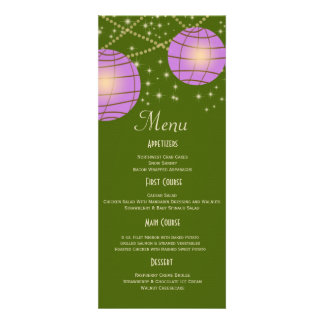 Festive Lanterns with Pastel Moss Green Lavender Announcements