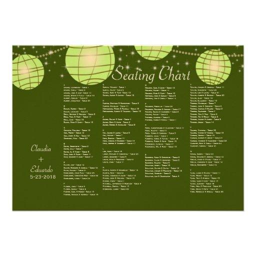 Festive Lanterns with Pastel Olive & Apple Green Invitation