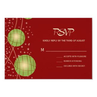 Festive Lanterns with Pastel Red & Apple Green 9 Cm X 13 Cm Invitation Card