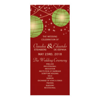 Festive Lanterns with Pastel Red Apple Green Invitation