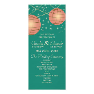 Festive Lanterns with Pastel Sea Green Tea Rose Personalized Announcement