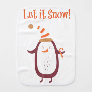Festive Let It Snow Burp Cloth