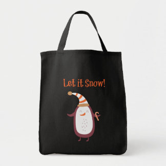 Festive Let It Snow Tote Bag