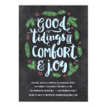 Festive Lettering | Chalkboard Holiday Party 13 Cm X 18 Cm Invitation Card