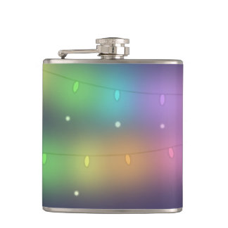 Festive lights and falling snow - Hip flask