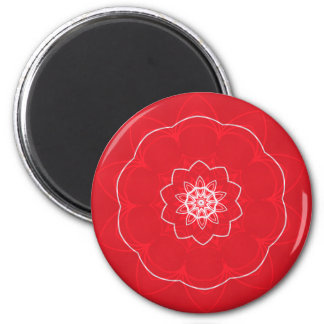 festive mandala 6 cm round magnet
