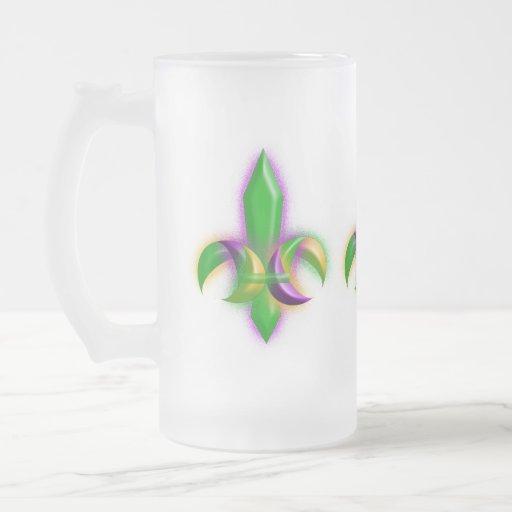 Festive Mardi Gras Glowing Fleur-de-lis Party Mug