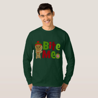 Festive mens bite me Gingerbread Christmas t-shirt