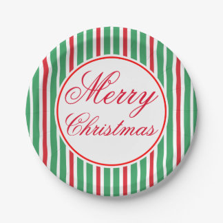 Festive Merry Christmas Dinner Party Paper Plates