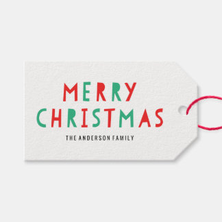 Festive Merry Christmas | Holiday Gift Tags