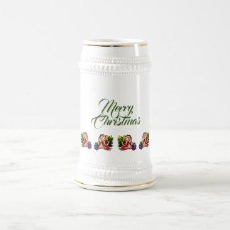 Festive Merry Christmas Santa Elephant Beer Stein
