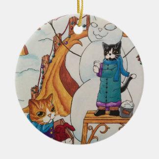 Festive Morning Ceramic Ornament