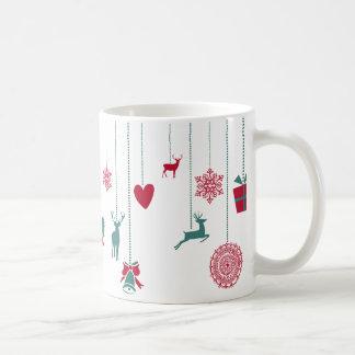 Festive mug, unique ornaments' design coffee mug