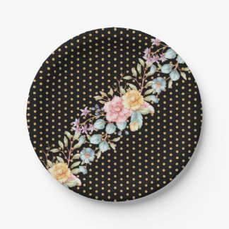 Festive Night Blooms Paper Plate