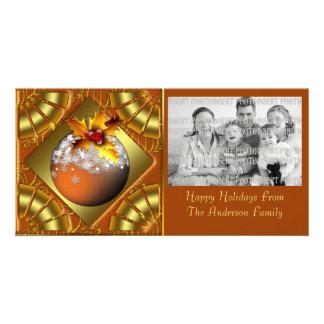 Festive Ornament Christmas Photo Card