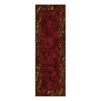 Festive ornamental bookmark or tag business cards