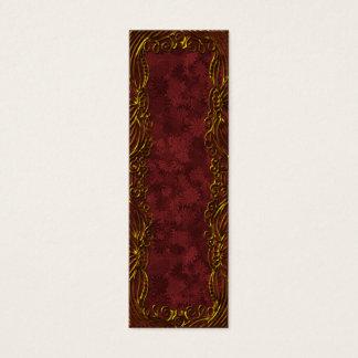 Festive ornamental bookmark or tag mini business card