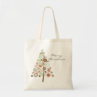 Festive Ornaments Tree Merry Christmas Tote Bag
