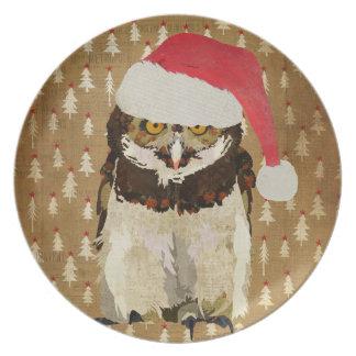 Festive Owl Plate