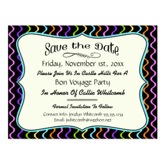 Festive Party, Reunion or Event Save the Date Postcard