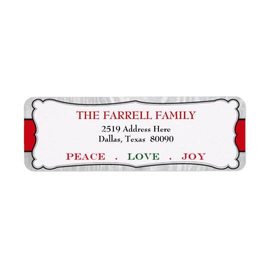 Festive Peace Love & Joy Christmas Label
