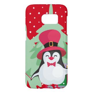 Festive Penguin with Sleigh