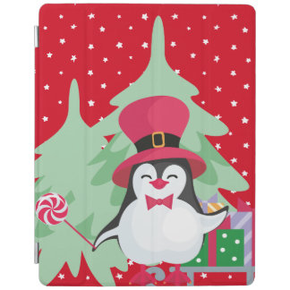 Festive Penguin with Sleigh iPad Cover
