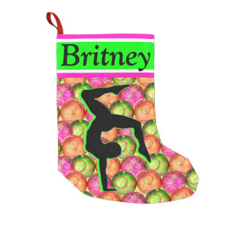 FESTIVE PERSONALIZED GYMNASTICS CHRISTMAS STOCKING