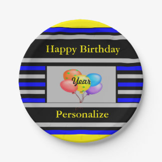 Festive Personalized Paper Plate
