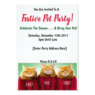 Festive Pet Party Invitations