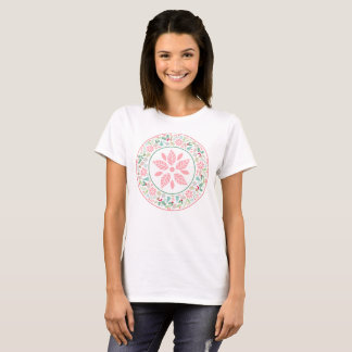 Festive Pink Green Holiday Wreath Collage T-shirt