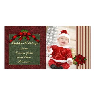 Festive Poinsettia Design Card