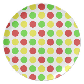 Festive Polka Dots in RGY Plates