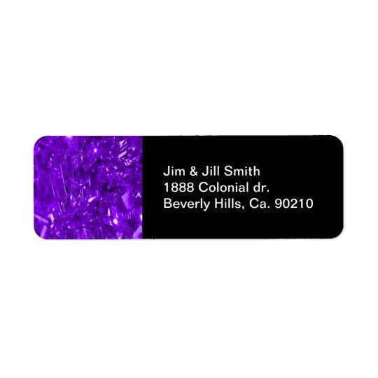 Festive Purple Foil Return Address Label