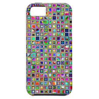 Festive Rainbow Textured Mosaic Tiles Pattern iPhone 5 Cover