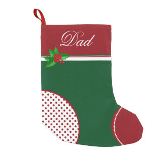 Festive Red and Green Custom Christmas Stocking