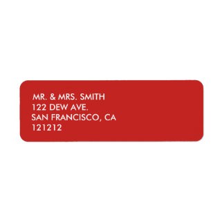Festive, Red and Simple Return Address Label