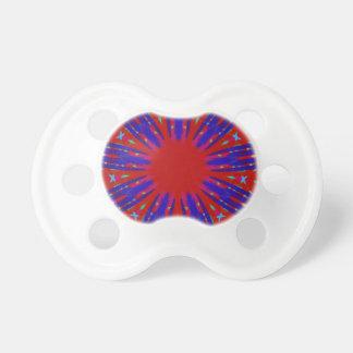 Festive Red Blue Radiating Circular Pattern Dummy