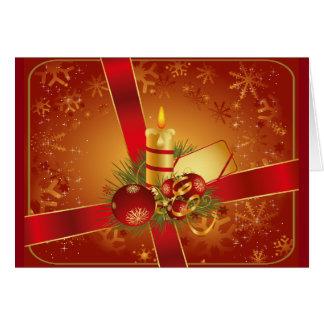 Festive red Christmas card