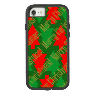 Festive Red Gold Green Christmas Tree Case-Mate Tough Extreme iPhone 8/7 Case