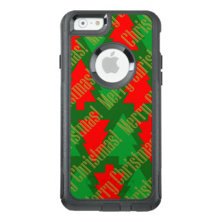 Festive Red Gold Green Christmas Tree OtterBox iPhone 6/6s Case