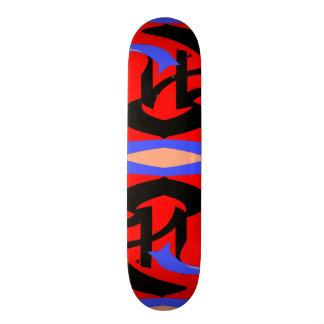 Festive Red Native Indian and Japanese Art Blend Custom Skate Board