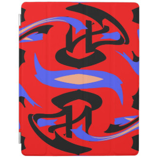 Festive Red Native Indian and Japanese Art Blend iPad Cover