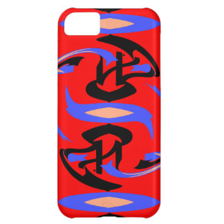 Festive Red Native Indian and Japanese Art Blend iPhone 5C Case