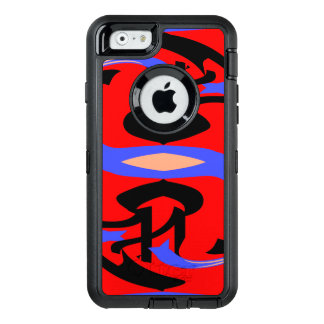 Festive Red Native Indian and Japanese Art Blend OtterBox Defender iPhone Case