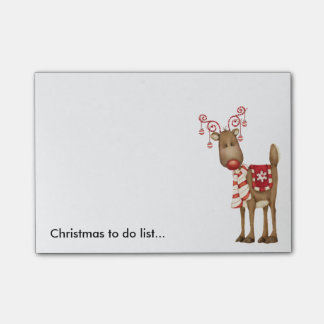 Festive Reindeer Post It Notes
